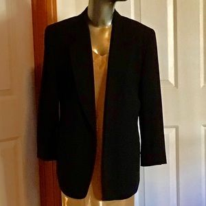 Vintage DKNY Donna Karan New York Black Blazer